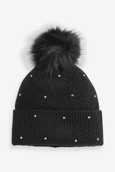 Jewel Pom Hat