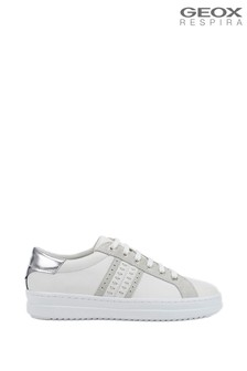Geox Women's Pontoise White Shoes