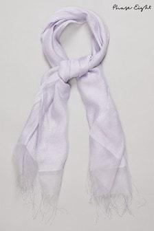 Phase Eight Purple Silk Blend Shawl