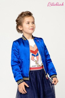 Billieblush Blue Star Bomber Jacket