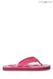 Tommy Hilfiger Pink Star Print Flip Flops