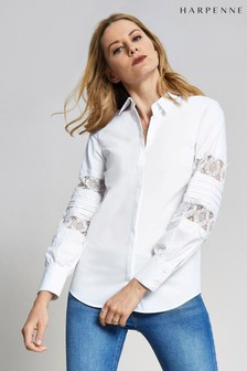 Harpenne White Lace Sleeve Shirt