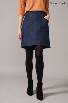 Phase Eight Blue Inkiri Denim Skirt