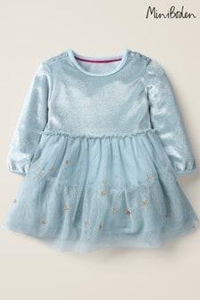 Boden Blue Christmas Tulle Dress