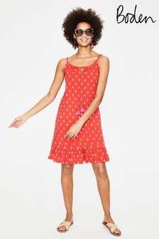 Boden Red Sophia Jersey Dress