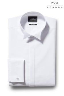 Moss London Extra Slim Fit Wing Collar Dress Shirt