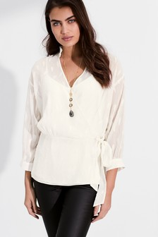 Frill Neck Wrap Top