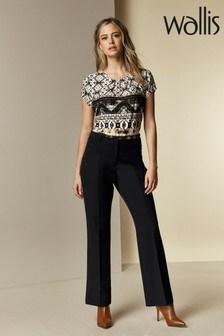 Wallis Petite Black Bootcut Trousers