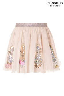 Monsoon Nude Sparkle Shoe Disco Skirt