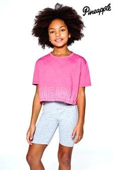 Pineapple Logo Print Crop T-Shirt