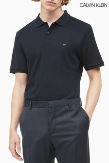 Calvin Klein Blue Refined Pique Slim Polo