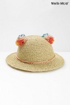 White Stuff Natural Kids Pom Ears Hat