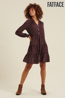 FatFace Purple Ariana Spot Dress