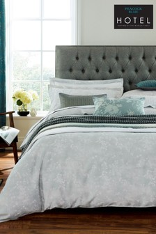 Peacock Blue Cascia Cotton Duvet Cover and Pillowcase Set