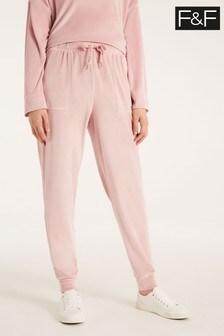 F&F Pink Island Fleece Pants