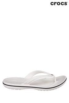 Crocs™ White Crocband™ Flip Flops