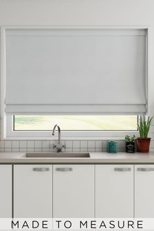 Cotton White Made To Measure Roman Blind