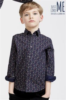 Long Sleeve Floral Ditsy Print Shirt (3-16yrs)