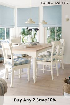 Dorset White Fixed Dining Table by Laura Ashley