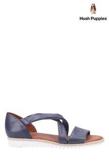 Hush Puppies Blue Gemma Espadrille Wedge Sandals