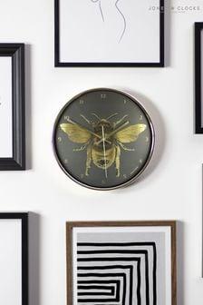 Jones Clocks Academy Gold Bee Wall Clock