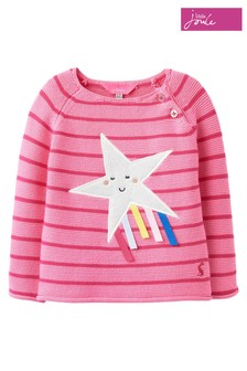 Joules Pink Winnie Knitted Jumper