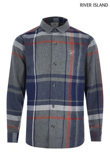 River Island Grey Large Scale Urban Shirt