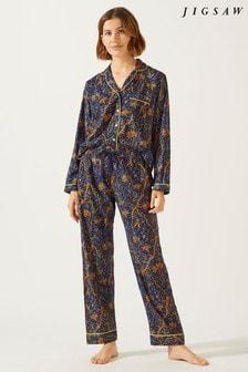 Jigsaw Blue Aurora Paisley Pyjama