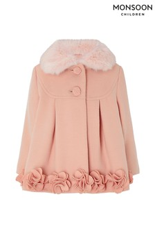 Monsoon Children Pink Baby Iris Flower Coat