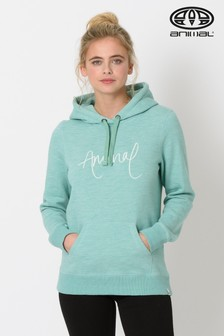 Animal Wasabi Green Marl Sketched Hoody