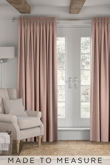 Made To Measure Blush Bouclé Curtains