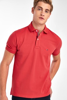 Tommy Hilfiger Orange Regular Placket Polo