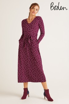 Boden Purple Ferne Jersey Midi Dress
