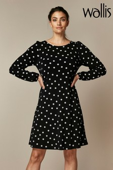 Wallis Spot Swing Dress