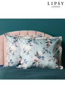Set of 2 Lipsy Lotus Teal Floral Pillowcases