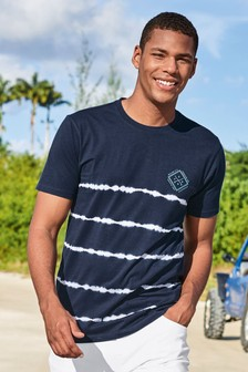 Tie Dye Stripe Slim Fit T-Shirt
