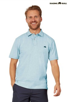 Raging Bull Blue Signature Jersey Polo Top