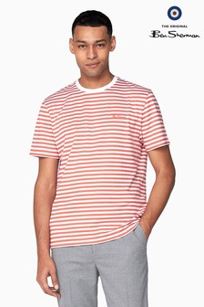 Ben Sherman Burnt Orange Jersey Breton T-Shirt