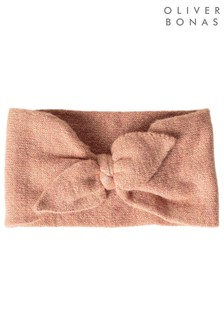 Oliver Bonas Knotted Sparkle Pink Bow Headband