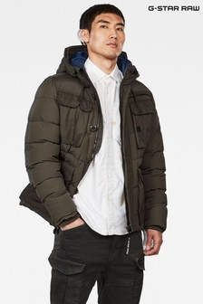 G-Star Khaki Whistler Utility Hooded Jacket