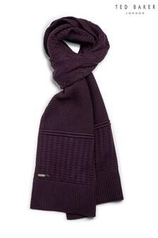 Ted Baker Purple Varscaf Multi Stitch Scarf