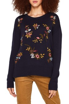 Esprit Blue Embroidered Sweater