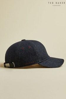 Ted Baker Blue Phelps Semi Plain Wool Baseball Cap