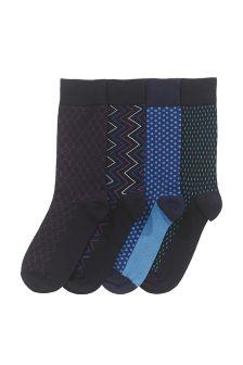 Geometric Socks Four Pack