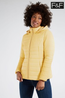 F&F Yellow Short Padded Coat