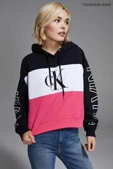 Calvin Klein Jeans Blocking Statement Cropped Hoody