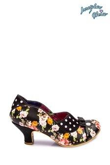 Irregular Choice Black Hold Up Low Heel Shoes