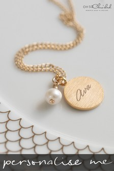 Personalised Pearl Pendant Necklace by Oh So Cherished
