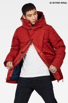 Красная короткая куртка-парка с капюшоном G-Star Citishield