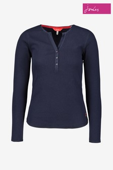 Joules Cici Long Sleeved Ribbed Jersey Top